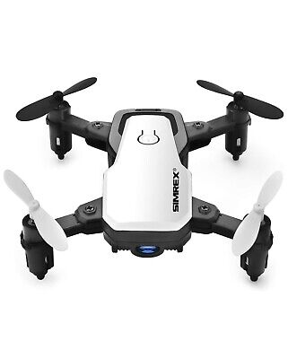 SIMREX X300C White Mini Drone RC Quadcopter Foldable Altitude Hold Headless NEW