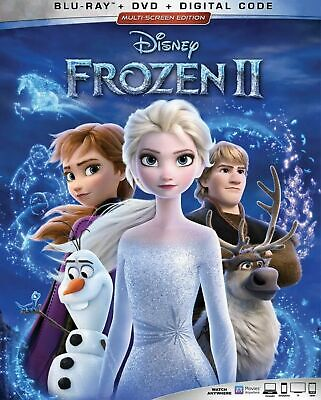 DISNEY FROZEN 2(BLU-RAY+DVD+DIGITAL)W/SLIPCOVER NEW