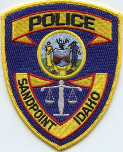 SANDPOINT IDAHO ID Scales of Justice POLICE PATCH