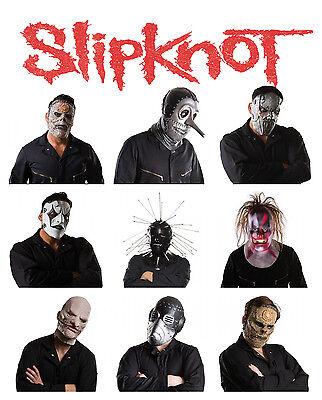 Slipknot Band Masks (Slipknot Mens All Band Members Adult Size Costume)