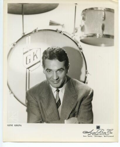 Gene Krupa Jazz Drummer original 1950s 8x10 agency photograph