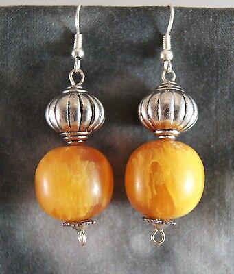 Ohrhänger Amber ~ Silber ~ Nepal Tibet (1203)