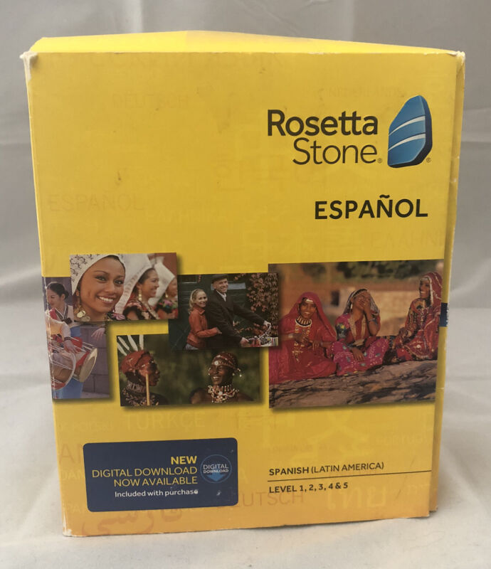 Rosetta Stone Espanol Spanish Latin America Level 1-5 Set Version 4 - Fast Ship