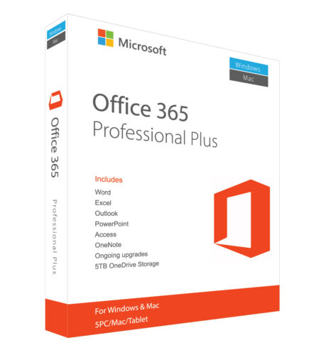 MS**Office 365--✔️PRO 5 User / 5 Device PC/Mac LIFETIME Email Delivery ESD