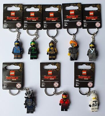 Lego Lloyd/Kai/Jay/Cole/Nya/Zane/Garmadon/Wu Keychains/Keyrings - NINJAGO