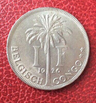 Congo Belge - Superbe monnaie de 1 Franc  1926 Fr