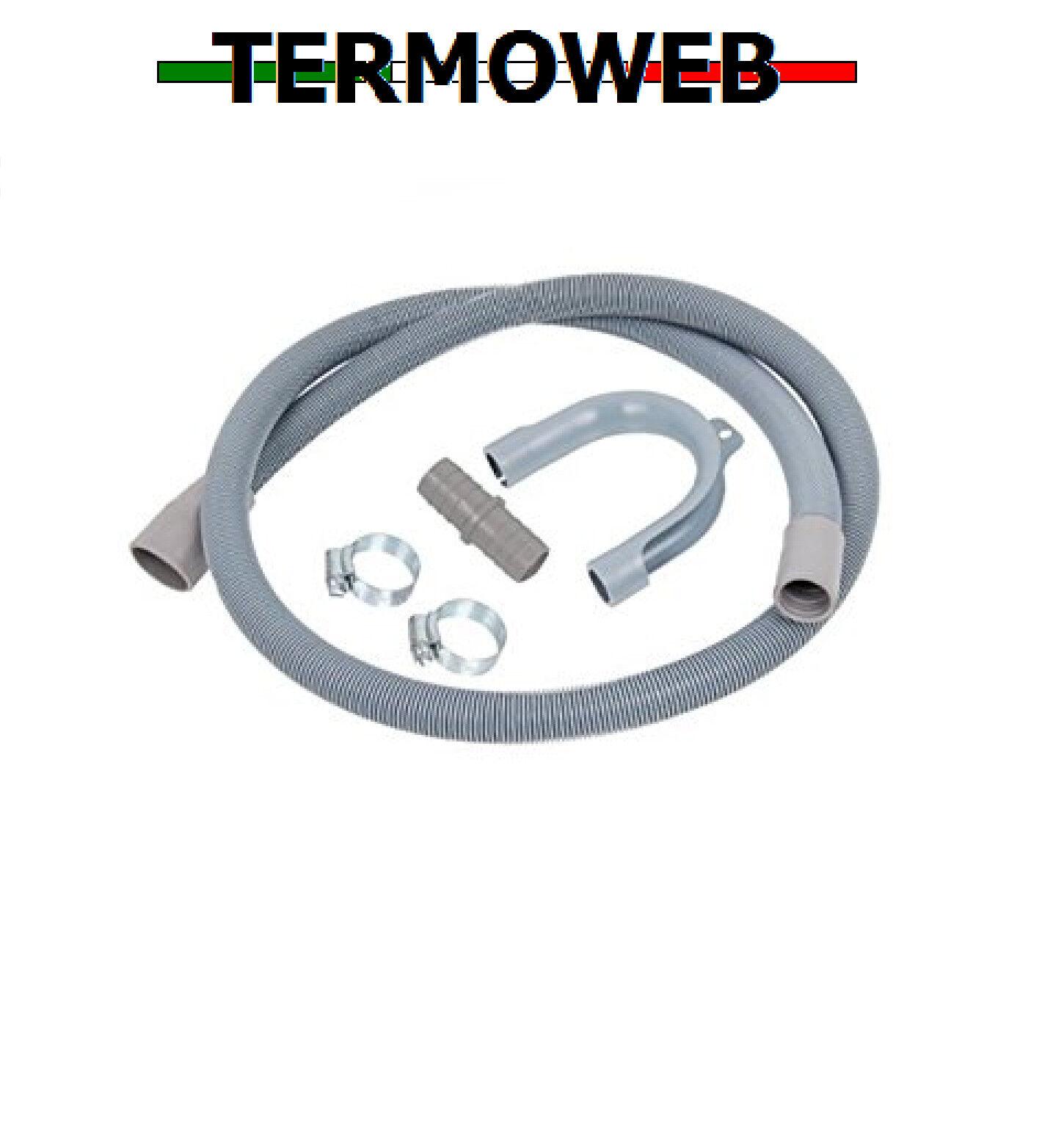 KIT TUBO DI SCARICO FLESSIBILE PER LAVATRICE/LAVASTOVIGLIE CM.150-200-250-300