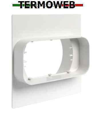 Tubo per Cappa Rettangolare Placca X Passaggio A Muro Da Tond Retta 120x60 FIRST