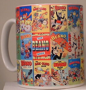 Collection of 30 Beano Annuals on a Mug perfect Gift Stocking Filler