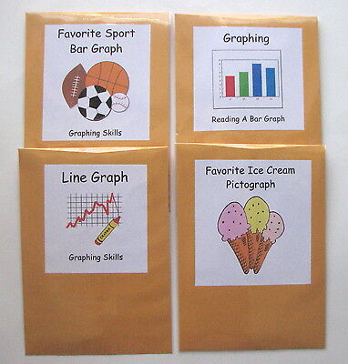 4 Teacher Made Math Centers Learning Resource Games Graphing Skills](Kids Graph)