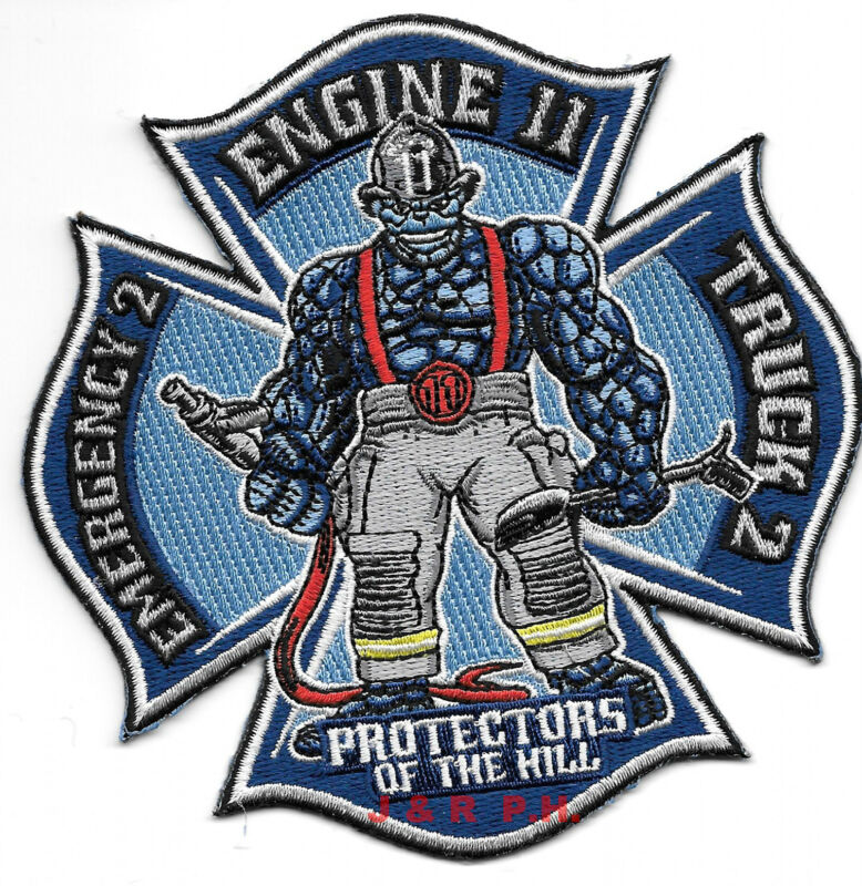 """New Haven  Engine-11 / Truck-2, CT  """"Protectors-Hill""""  (4.5"""" x 4.5"""") fire patch"""