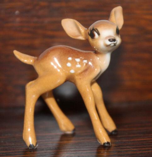 Hagen-Renaker Walt Disney Bambi Fawn Miniature Figurine Card Vintage Rare