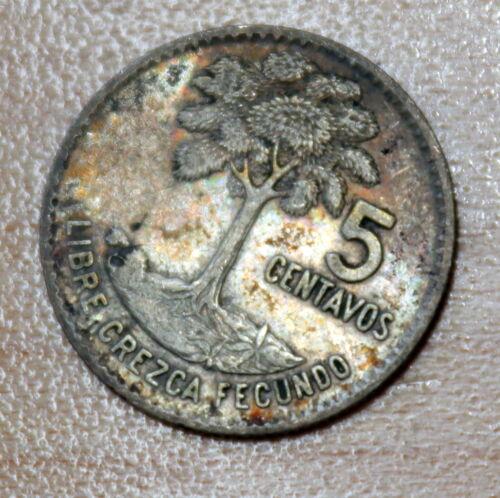 1961 Guatemala 5 Centavos Silver