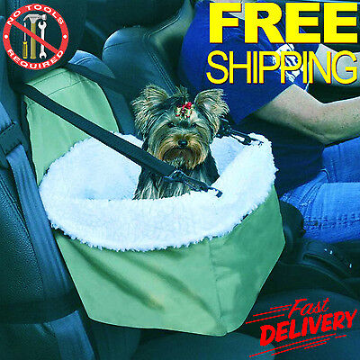 Car Seat For Dog Pet Cat Booster Blanket Chair Zippered Carrier Puppy Soft Kitty