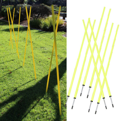 8 Agility Poles Portable Outdoor Training Markers Obstacle football soccer coach