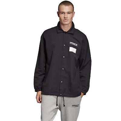 Schwarze Herren Activewear (Adidas Original Trainer Jacke Herren Schlicht Schwarz Außen Active Wear DX3767)