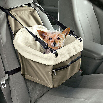 Car Seat For Dog Pet Cat Booster Blanket Puppy Carrier Chair Zippered Soft Kitty