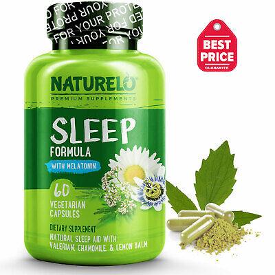 NATURELO Sleep Formula - with Valerian, Chamomile & Melatonin - 60 Capsules