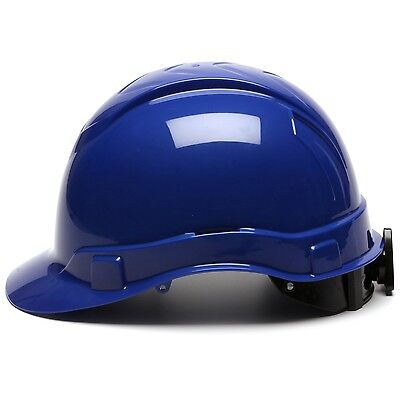 Pyramex Cap Style Hard Hat With 4 Point Ratchet Suspension Blue