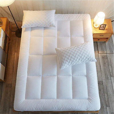 Foam Mattress Bed Pad - Queen Size Mattress Pad Cover Memory Foam Pillow Top Topper Thick Luxury Bed