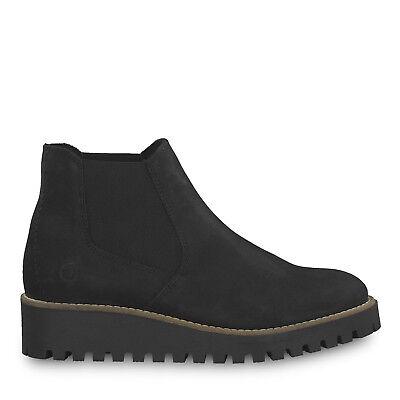 Tamaris 1-1-25471-21 001 Schuhe Damen Leder Chelsea Boots Hypatia black schwarz ()
