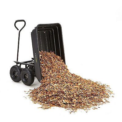 Heavy Duty Gorilla Cart Dump Wagon Wheelbarrow Garden Yard Pneumatic Tires