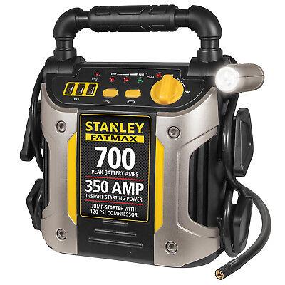 (Portable Jump Starter 700 Amp with Air Compressor Car Truck RV Jumper Box)