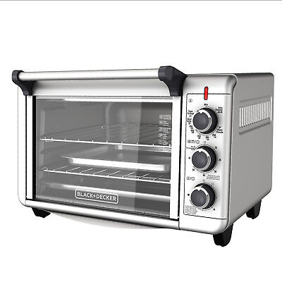 Stainless Stiffen Convection Countertop Toaster Oven Baking Cooking BLACK + DECKER