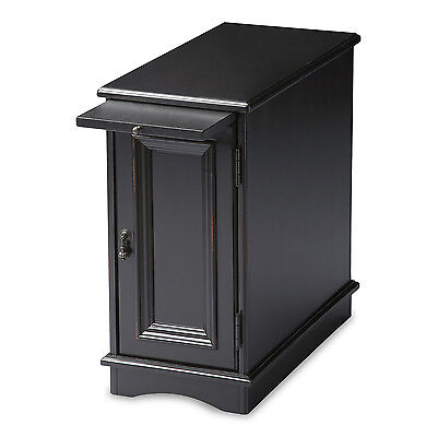 SAVANNAH CHAIR SIDE TABLE - END TABLE - BLACK LICORICE FINISH - FREE SHIPPING*
