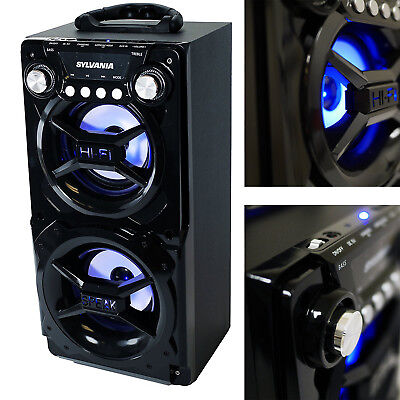 Party Speaker System Bluetooth Big Led Portable Stereo Light Up Tailgate Loud Party Portable Bluetooth