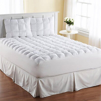 King Size Mattress Pad Cover Pillow Top Topper Thick Cotton Luxury Bed (Luxury Mattress Topper)