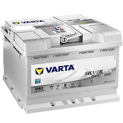 AGM Autobatterie 12V 60Ah 680A Varta D52 Starterbatterie Start-Stop 560901068