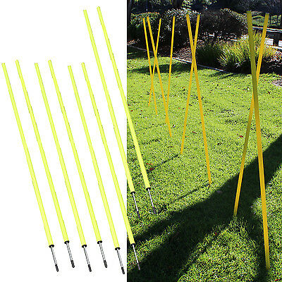 Slalom Poles 5FT [Set of 8] Agility/Speed Training Soccer/Football/Baseball