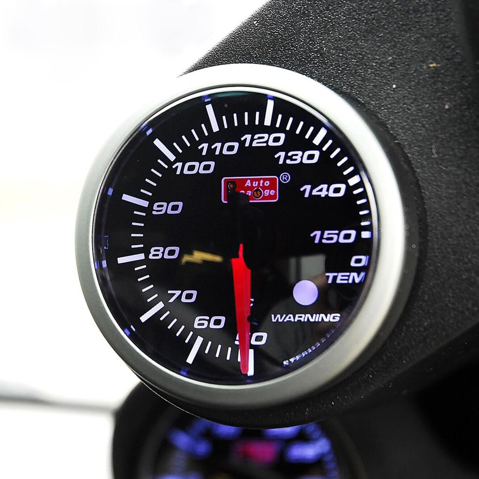 52mm Autogauge Digital EVO Gauge BOOST TURBO Meter RED//BLUE SMOKE LED PSI//BAR