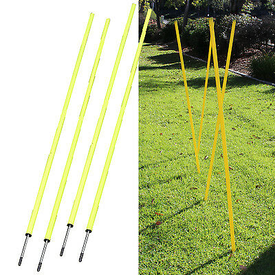 4 Agility Poles Portable Outdoor Training Markers Obstacle football soccer coach