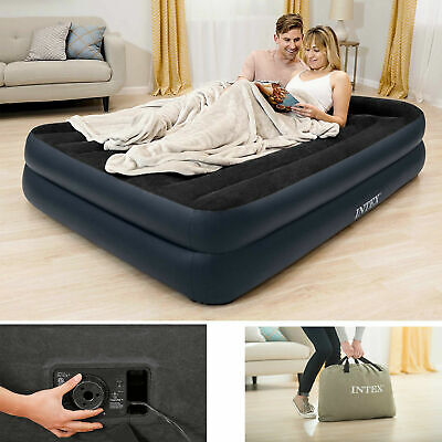 Airbed Inflatable Air Mattress Blow Up Camping Bed Queen Size With Electric Pump Airbed Air Mattress
