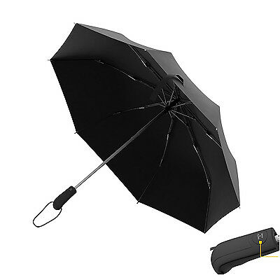 Automatic Travel Umbrella Auto Open Close Compact Folding Rain Windproof Anti UV