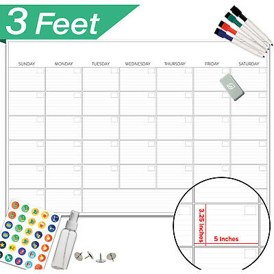 Large Dry Erase Board Calendar Monthly Organizer Home Office Wall Week Planner ()