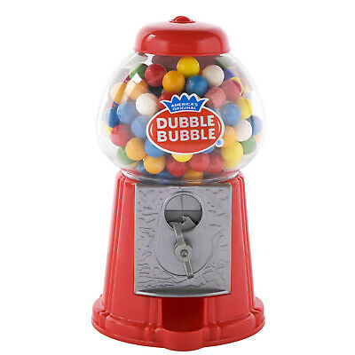 Classic Vintage Red Bubble Gum Machine Bank 50 Gumball Included Candy Dispenser - Gumball Machine Gum