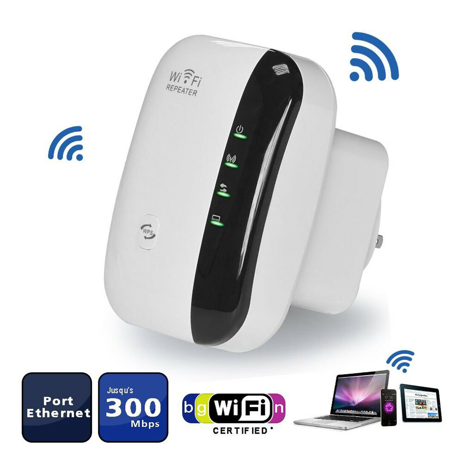 WiFi Range Extender Super Booster 300Mbps 2.4G Boost Speed W