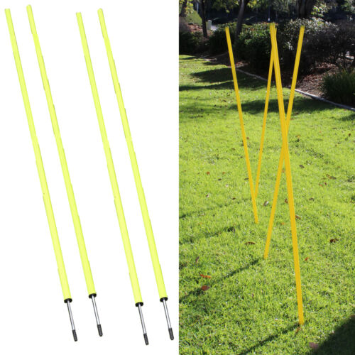 Speed Running Fitness Exercise Crossfit Workout Slalom Soccer Agility Pole Set 4