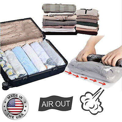 Business Plastic Bags (Travel Space Saver Compression Bags Roll Up Storage 12-Pack Business Holiday NEW )