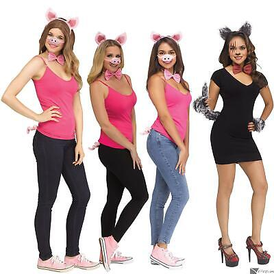 Halloween Big Bad Wolf & The Little Piglets 4pc Adult Costume Accessory Set