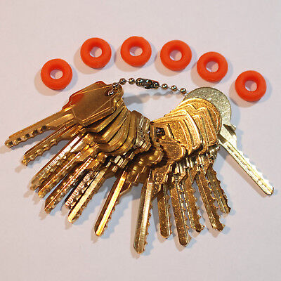Professional Commercial 15 keys Depth Key Set with bump rings
