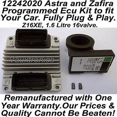 12242020 Vauxhall Opel Astra / Zafira Plug & Play Ecu Set Z16XE, 1.6 16valve.