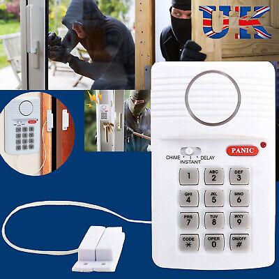 Wireless Security Keypad Alarm System Home Door Shed Garage Caravan Office Panic Wireless Security Alarm System