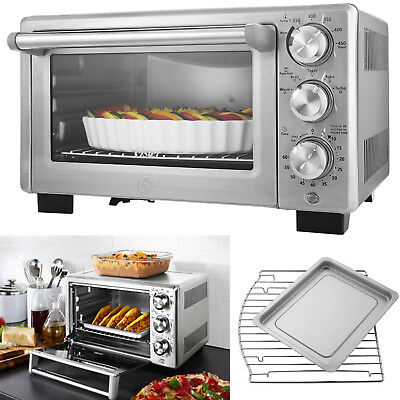 Convection Toaster Oven 6 Slice Brushed Stainless Stiffen Family-Size Pizza Cook