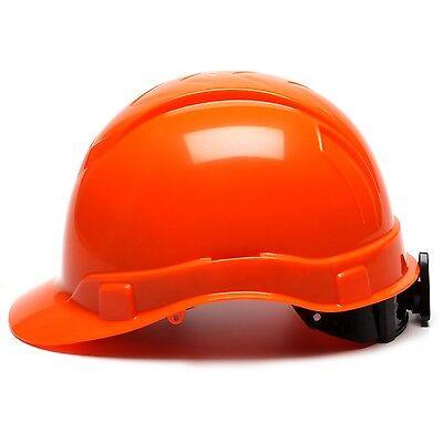 Pyramex Cap Style Hard Hat With 4 Point Ratchet Suspension Hi-vis Orange
