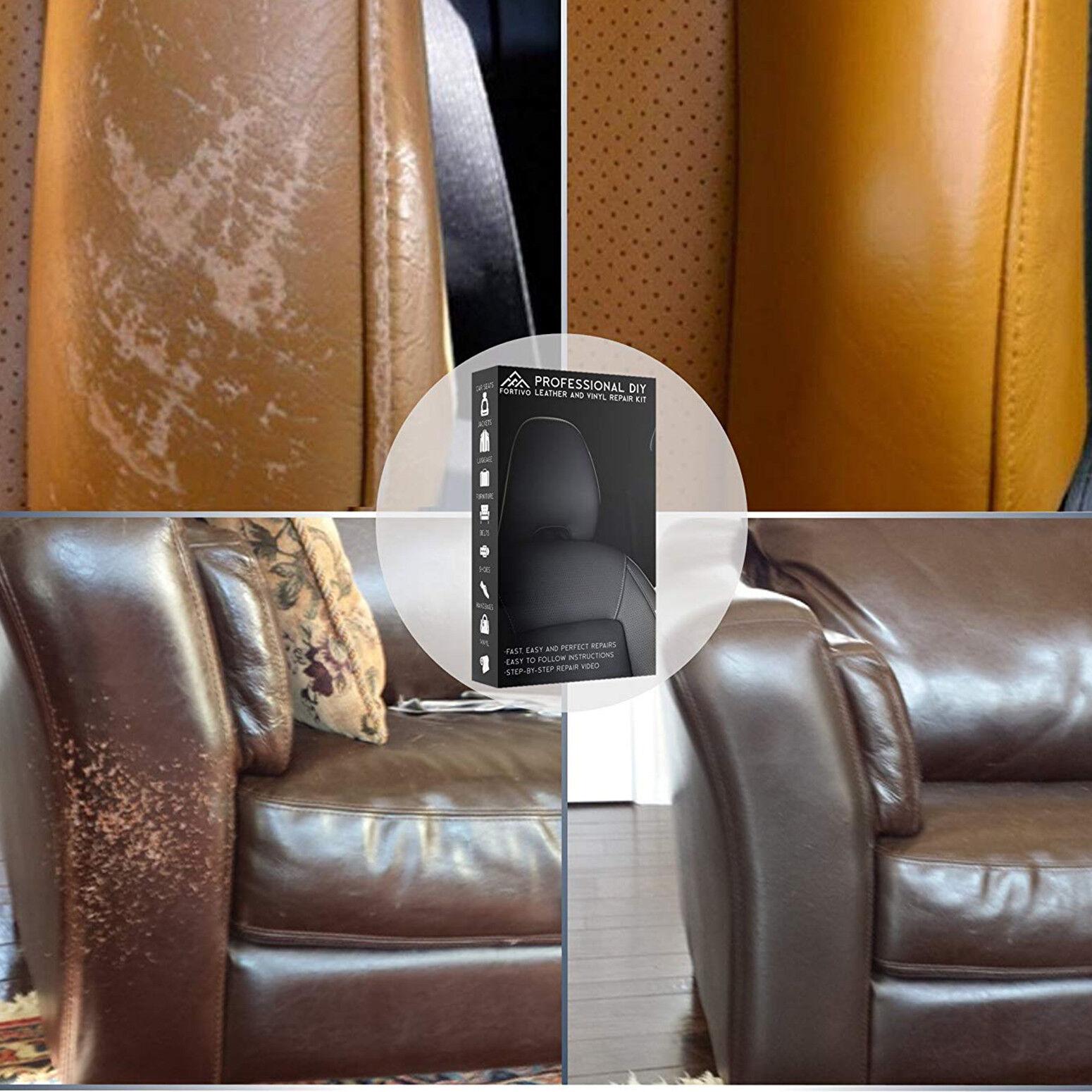 Leather Repair Kit Filler Compound Color Restorer Furniture