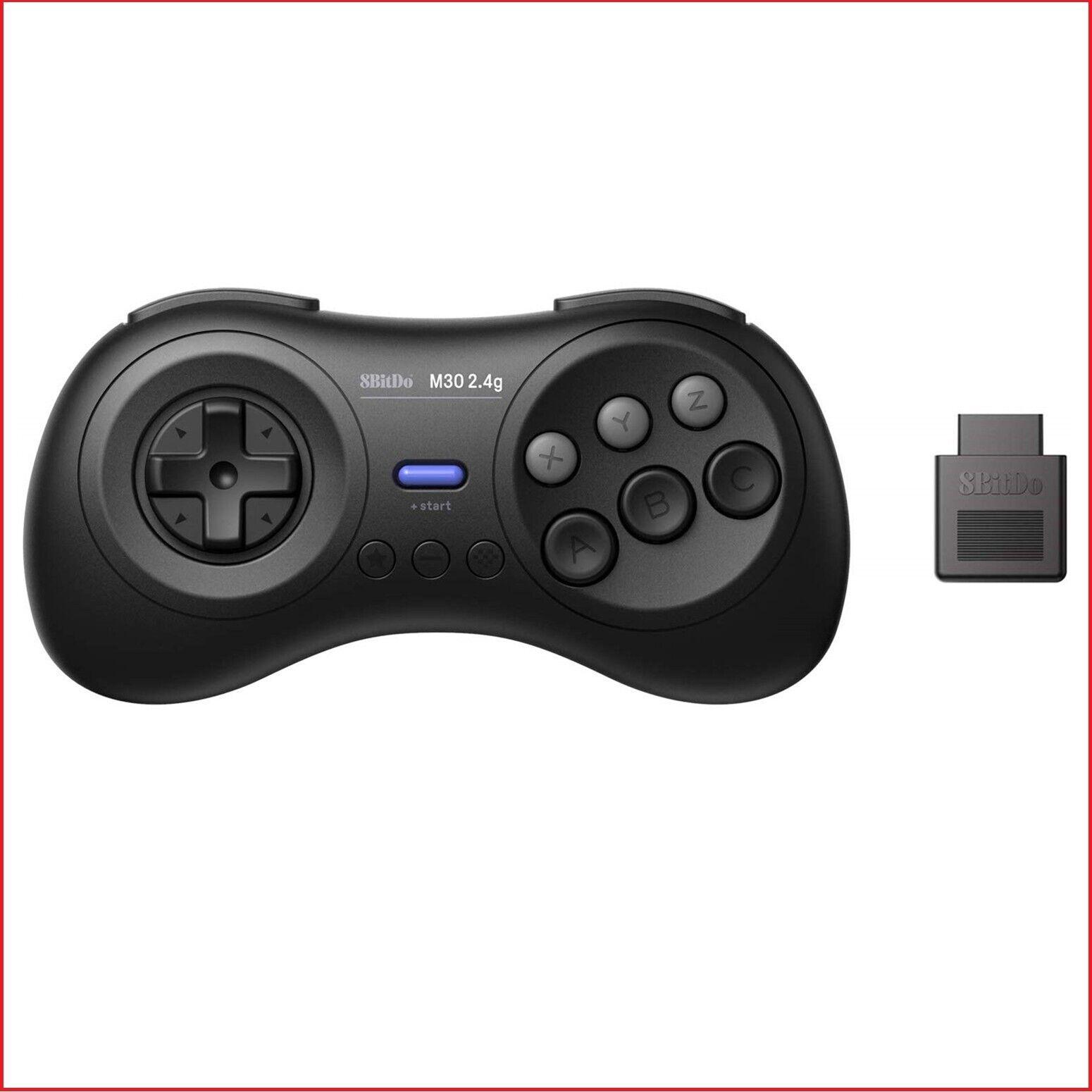 8Bitdo M30 2.4G Wireless Gamepad For The Original Sega Genesis & Sega Mega Drive Controllers & Attachments